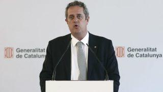 El ex conseller de Interior, Joaquim Forn, durante la rueda de prensa ofrecida tras la reunión de la Junta de Seguridad de Cataluña (Foto: Efe)