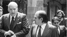 Josep Tarradellas y Jordi Pujol
