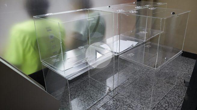 Urnas del referéndum ilegal del 1-O en Cataiuña