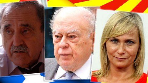 El editor Eliseu Climent, Jordi Pujol Soley y la periodista Mónica Terribas.