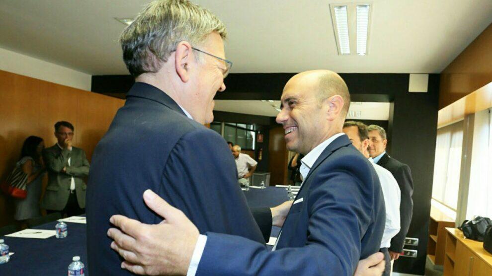 El alcalde de Alicante, Gabriel Echávarri y el presidente de la Comunidad Valenciana, Ximo Puig. (Foto: @gechavarri)