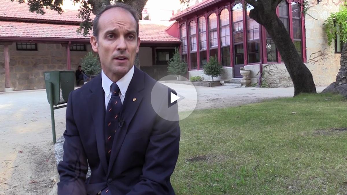 El secretario general de la Confederación Española de Policía CEP, Antonio Labrado, en una entrevista a OKDIARIO.