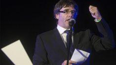 Carles Puigdemont durante el cierre de campaña (Foto: EFE)
