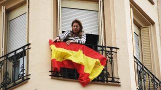 Madrid engalanada con banderas de España por la unidad y contra el referéndum en Cataluña. (Foto: Francisco Toledo)