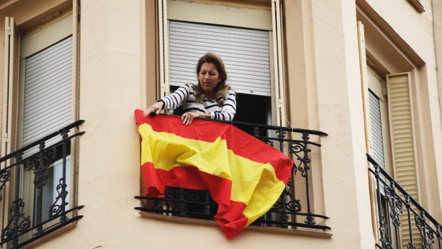 Madrid banderas España
