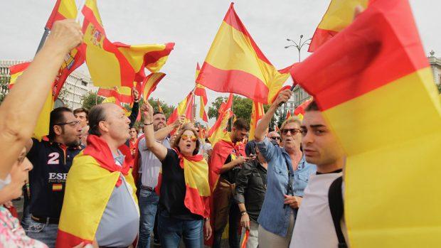 Madrid se llena de banderas de España. Foto: FRANCISCO TOLEDO