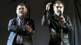 Jordi Sánchez y Jordi Cuixart (Foto: Efe).