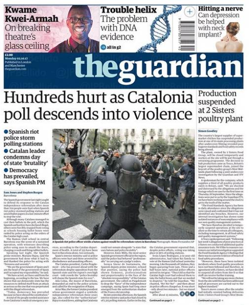 Rajoy pierde la batalla mediática por el referéndum en la prensa internacional