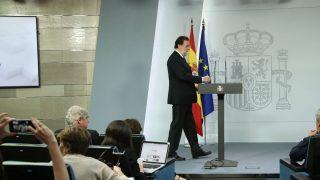 El presidente del Gobierno, Mariano Rajoy, en rueda de prensa.