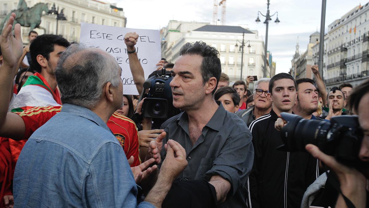 Manifestación en la Puerta del Sol a favor del Referéndum en Cataluña. (Foto: FRANCISCO TOLEDO)