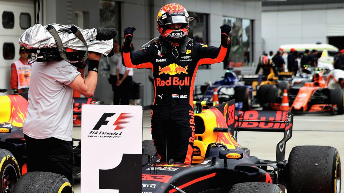 Verstappen celebra su segundo triunfo en la Fórmula 1. (Getty)