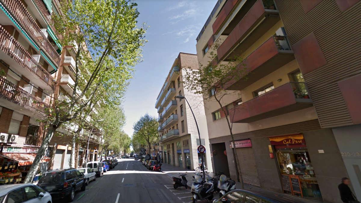 Calle Llull de Barcelona, donde se produjo el suceso.