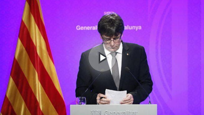 Puigdemont exige la retirada de la Policía y la Guardia Civil de Cataluña