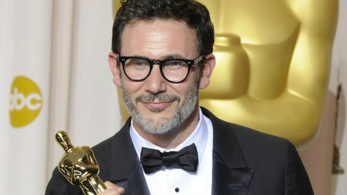 Michel Hazanavicus con el Oscar por 'The Artist'.