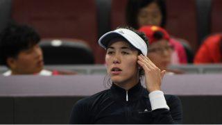 Garbiñe Muguruza se retira del torneo de Pekín. (AFP)
