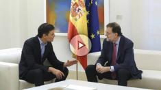 Mariano Rajoy y Pedro Sánchez, este jueves en La Moncloa.