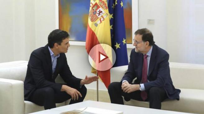 """Sánchez pide a Rajoy que """"negocie con Puigdemont"""" y que incluya a Podemos para hablar sobre Cataluña"""