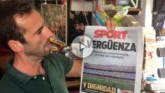 Ojeda comenta la portada del Sport y le dedica unas palabras a Piqué.