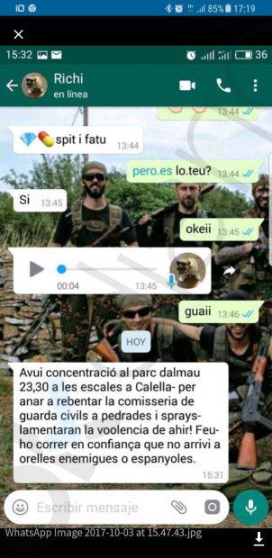 Independentistas radicales se concentrarán para «reventar a pedradas» el cuartel de la Guardia Civil de Calella