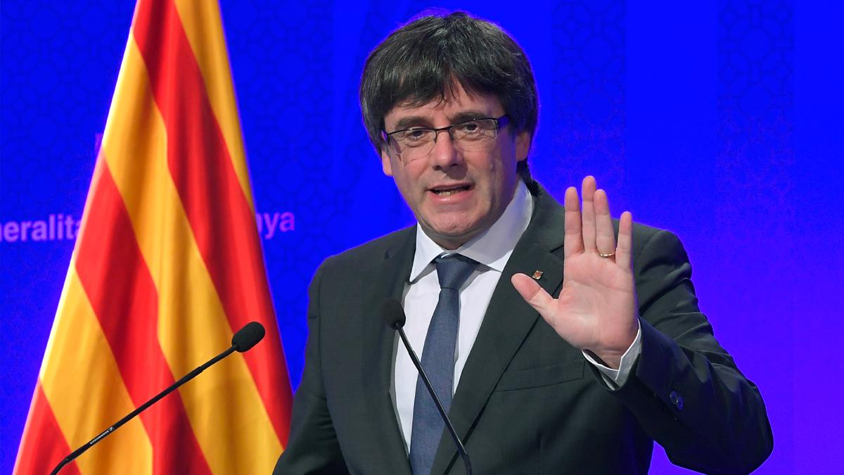 El presidente de la Generalitat, Carles Puigdemont. (Foto: AFP)