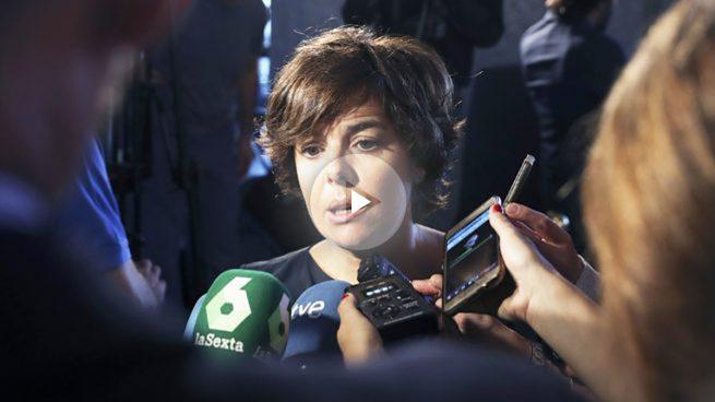 El PSOE pedirá la reprobación de Soraya por la actuación policial el 1-O