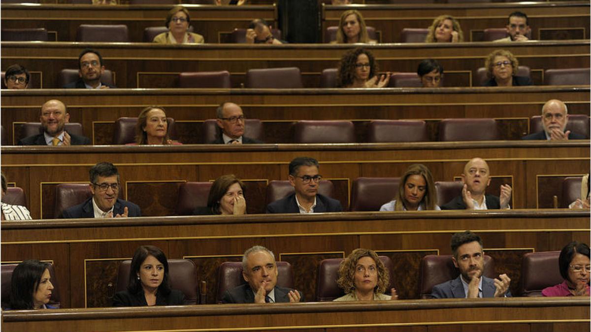 Bancada del PSOE en el Congreso. (Foto: Flickr PSOE)