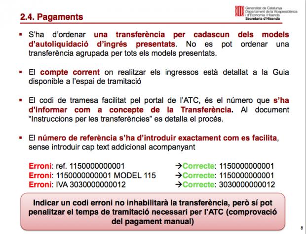Este es el documento de la Generalitat para coaccionar a las empresas a pagar a su Hacienda y no a Montoro