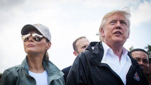 Donald y Melania Trump. (Foto: AFP)