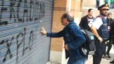 También hubo pasividad de los Mossos en la huelga general independentista en Cataluña