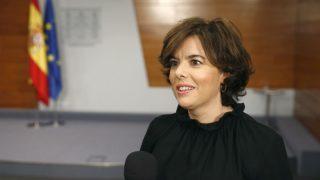 La vicepresidenta Soraya Sáenz de Santamaría.