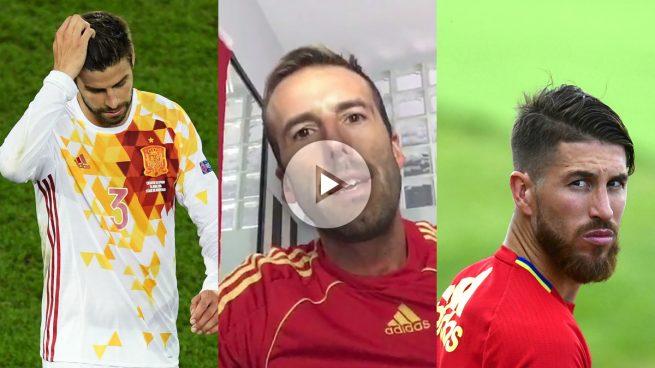 OKjeda: «Escupir en el brazalete de Sergio Ramos lo pagarás con tu destierro»