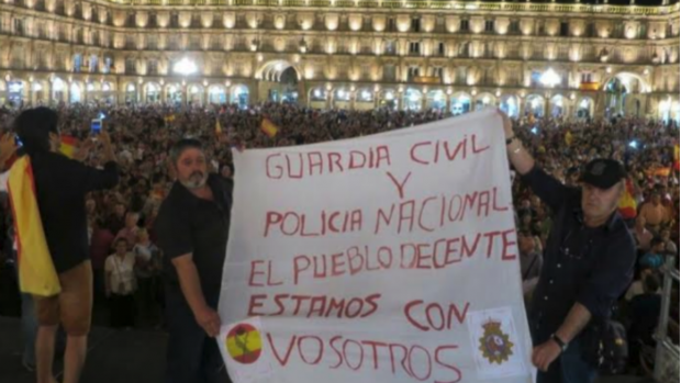 6.000 personas apoyan en Salamanca a la Policía y la Guardia Civil