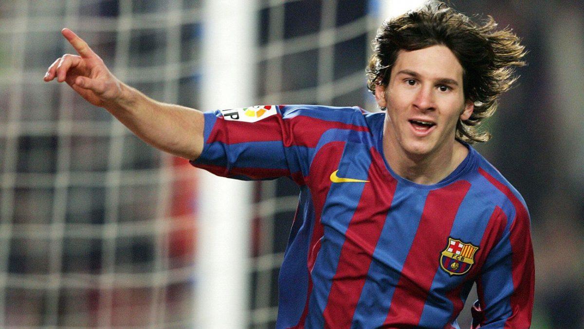 Lionel Messi comenzó su andadura en el F.C. Barcelona en el año 2003.