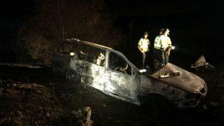 Imagen de cómo quedó el coche siniestrado (Foto: Efe).
