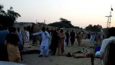 Lugar donde se produjo el atentado que mató a 13 personas (Foto: AFP).