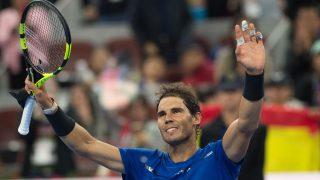 Rafa Nadal celebra su victoria ante Kachanov en Pekín. (AFP)