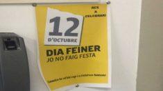 Cartel colocado en el Ayuntamiento de Manresa