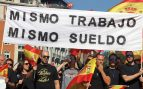 Manifestación de Policías por la equiparación salarial con los Mossos. Foto: E.Falcón