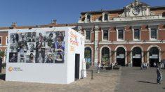 La instalación 360 de Nationale Nederlander dedicada a la fotografía callejera en Príncipe Pio. Foto: Patricia Nieto Madroñero