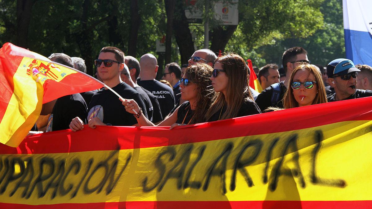 Manifestación por la equiparación salarial
