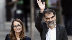 Jordi Cuixart, presidente de Òmnium Cultural, a su llegada a la Audiencia Nacional. (Foto: EFE)