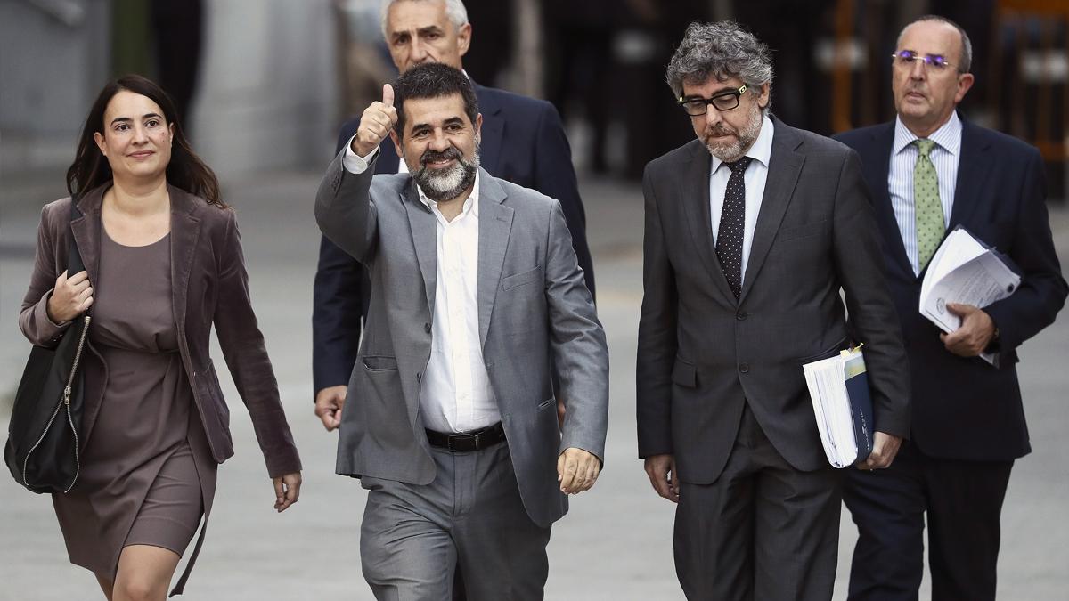 Jordi Sánchez, ex presidente de la ANC, a su llegada a la Audiencia Nacional. (Foto: EFE)