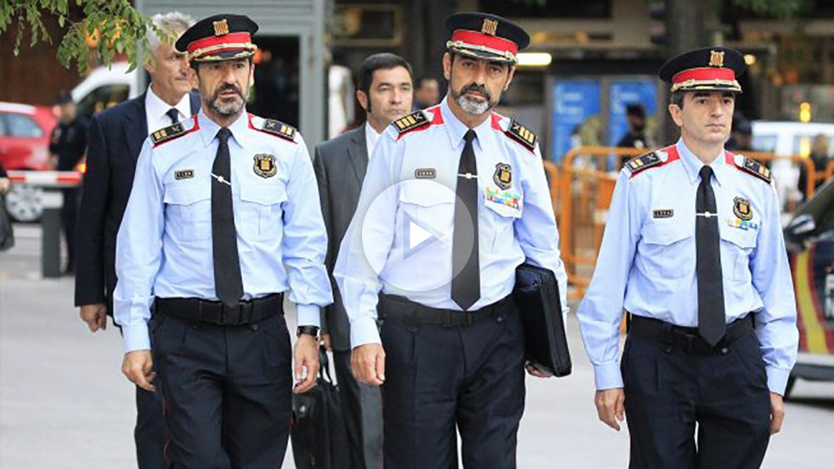 Josep Lluís Trapero, mayor de los Mossos d'Esquadra, a su llegada a la Audiencia Nacional. (Foto: EFE)