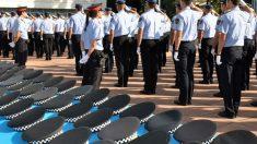 Mossos d´Esquadra formando en una comisaría