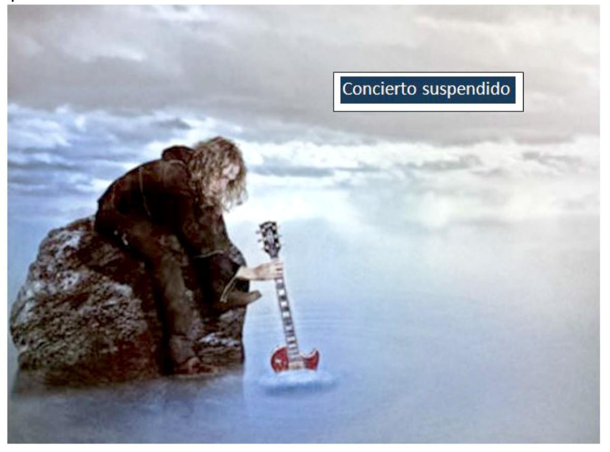 Se suspende el concierto de Robe Iniesta