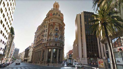 Sede de CaixaBank en Valencia.
