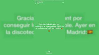 Estado de WhatsApp de la presidenta de la Comunidad de Madrid, Cristina Cifuentes.