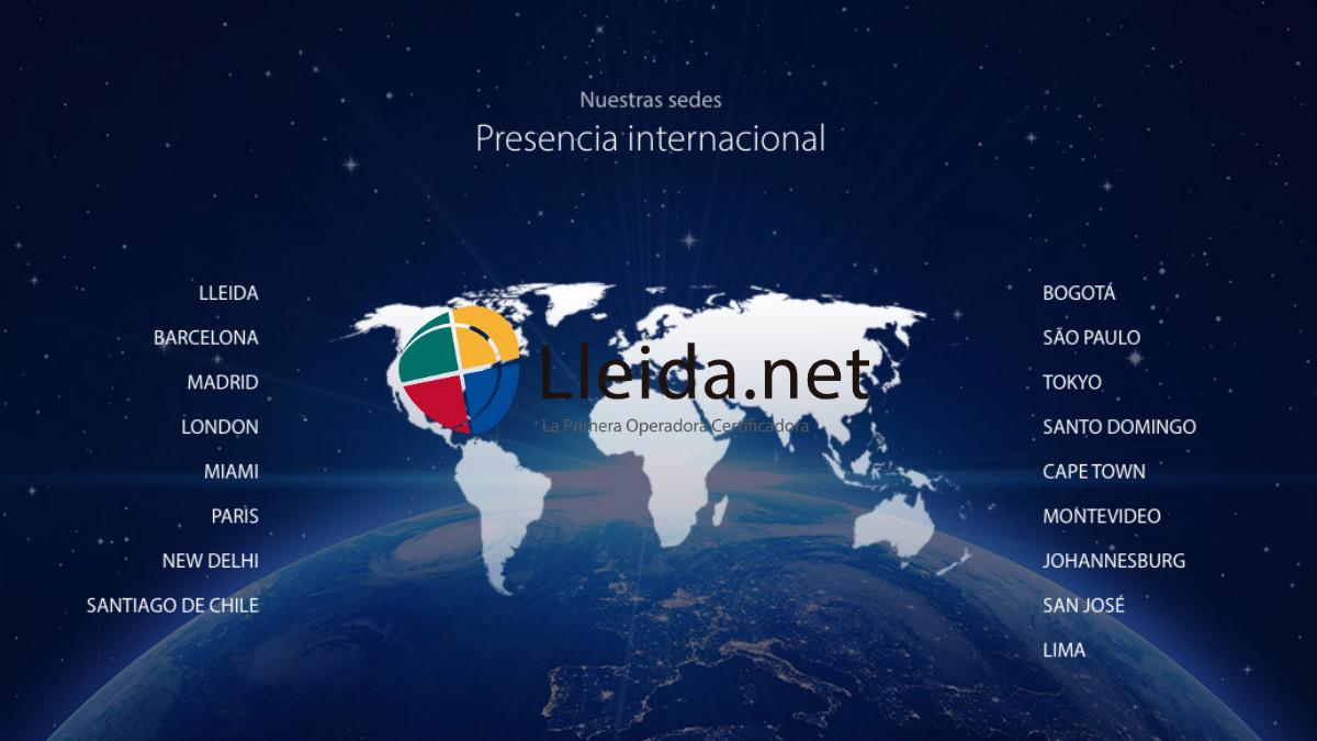La empresa lleida.net tiene presencia en cuatro continentes.