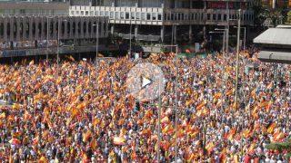 Manifestación en la Plaza de Colón en defensa de la unidad de España. Foto: Francisco Toledo