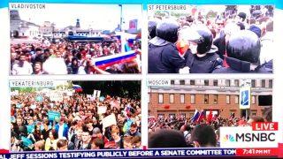 Manifestaciones a favor de Alexei Navalny y contra Putin por toda Rusia en el día de su cumpleaños.